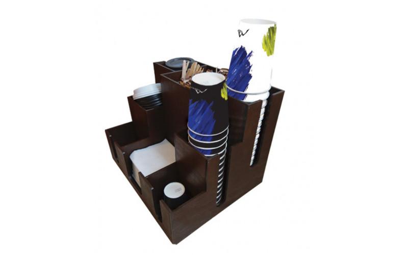 Органайзер для стаканов, крышек, сахара, салфеток, размешивателей